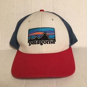 Patagonia Red Blue Canvas Hat
